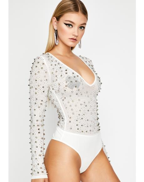 Angelic Killer Cute Studded Bodysuit