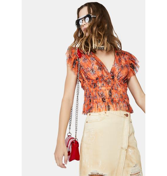 Free People Making Me Smile Print Top
