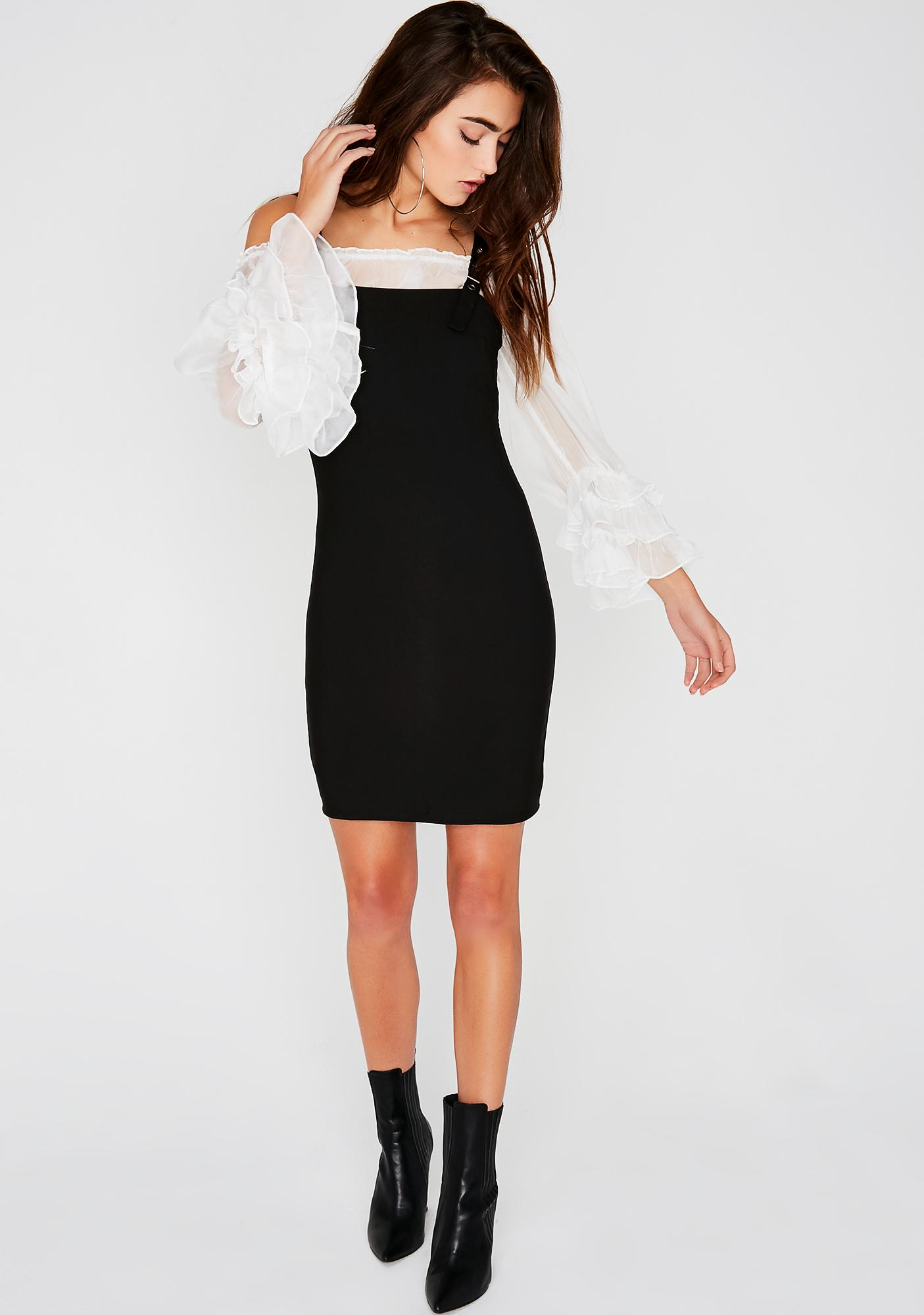 Buckle Down Mini Dress