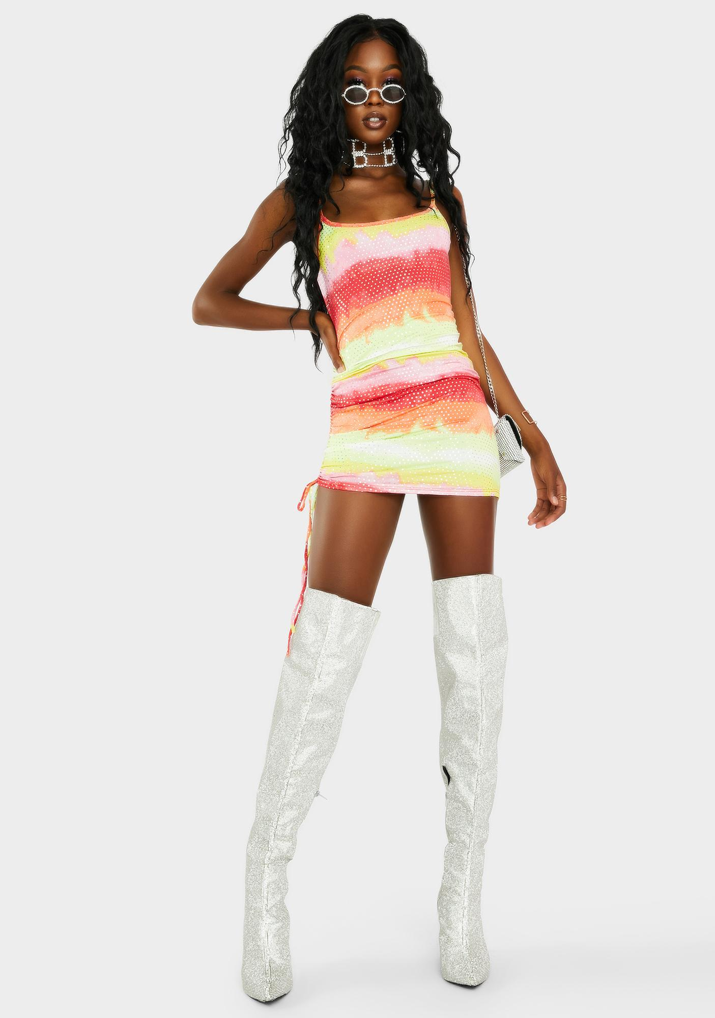 Marigold Take The Risk Mini Dress