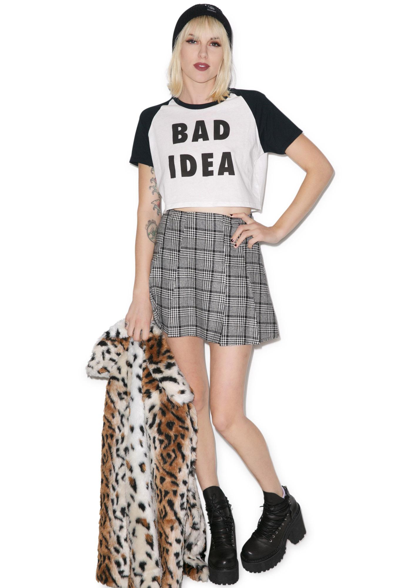 Lazy Oaf Bad Idea Crop Tee