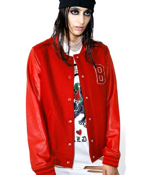 Black Scale Blood Of My Blood Varsity Jacket