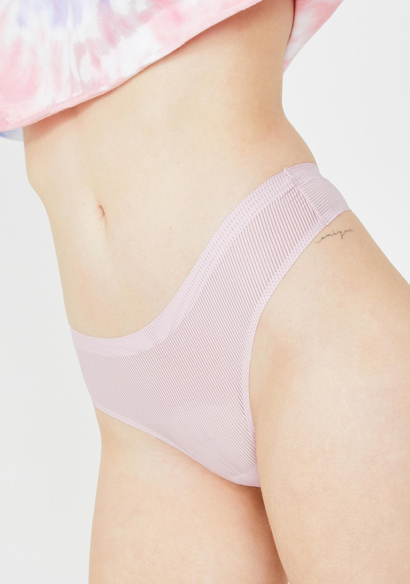 Rose Flirty Time Striped Thong