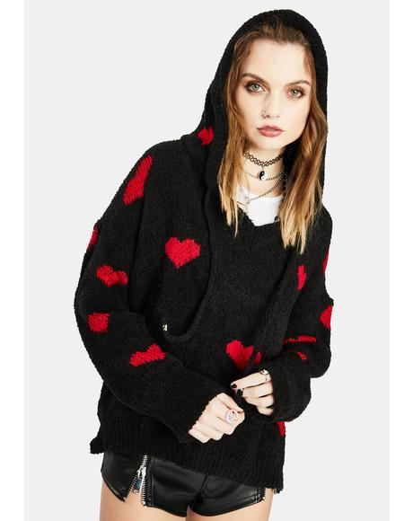 Noir Have My Heart Knit Sweater
