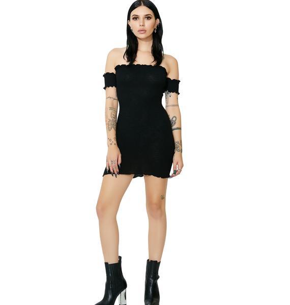 Onyx Slim Chance Off-Shoulder Dress