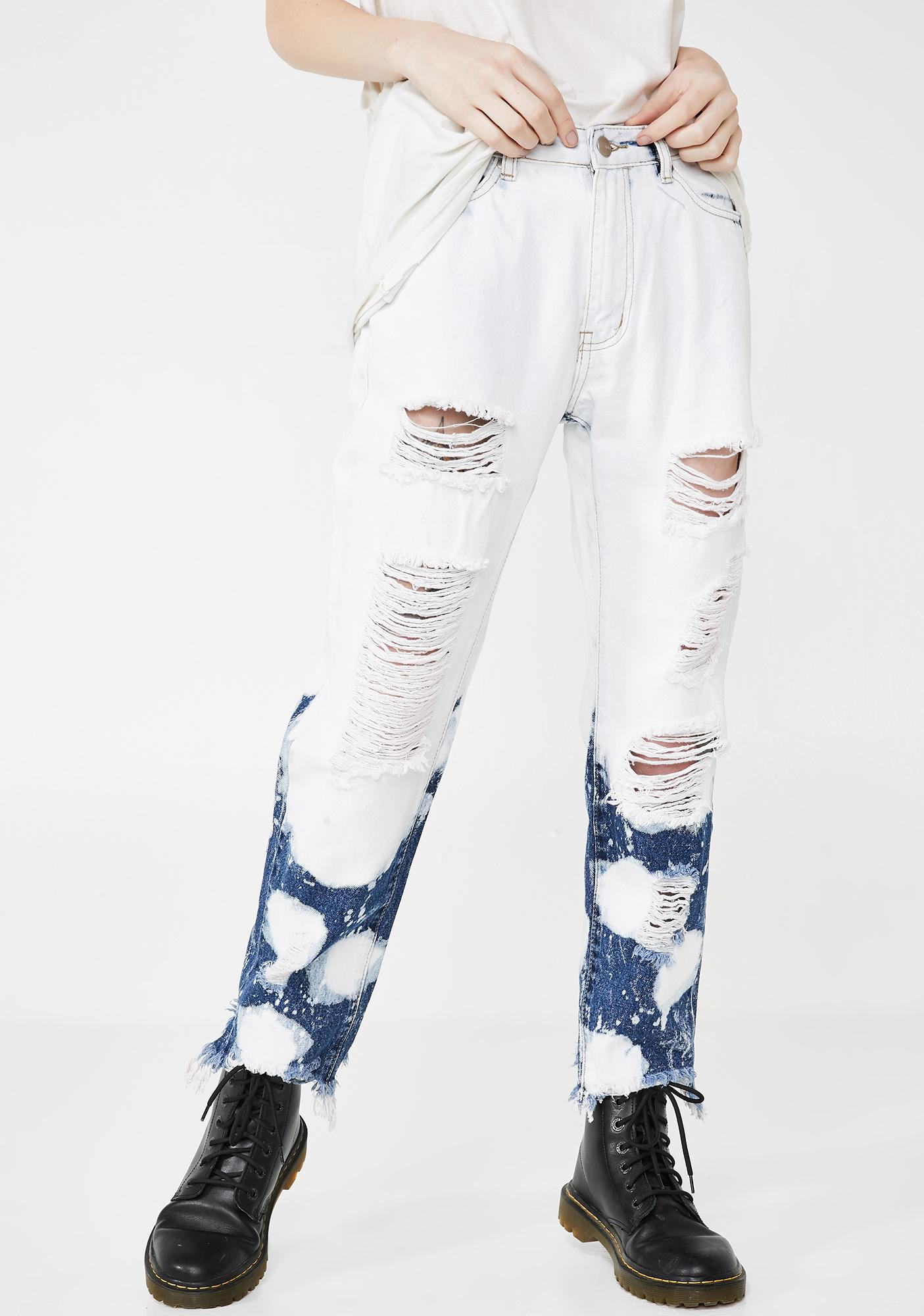 Indie District Bleached Jeans