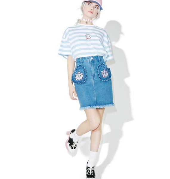 Lazy Oaf X Disney Aristocats Denim Skirt