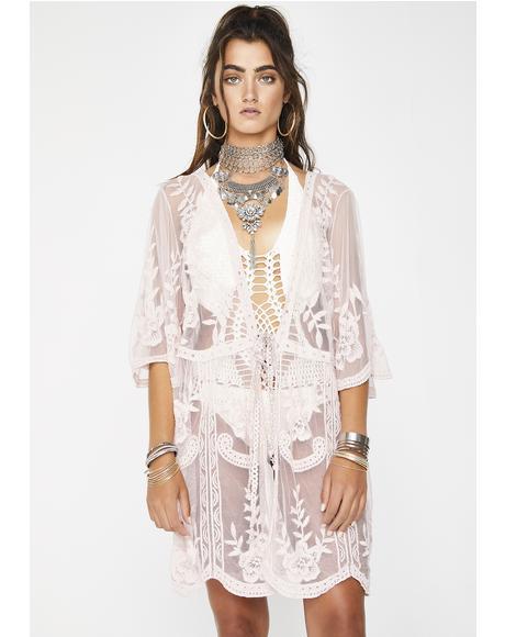 Sigh Of Bliss Lace Kimono