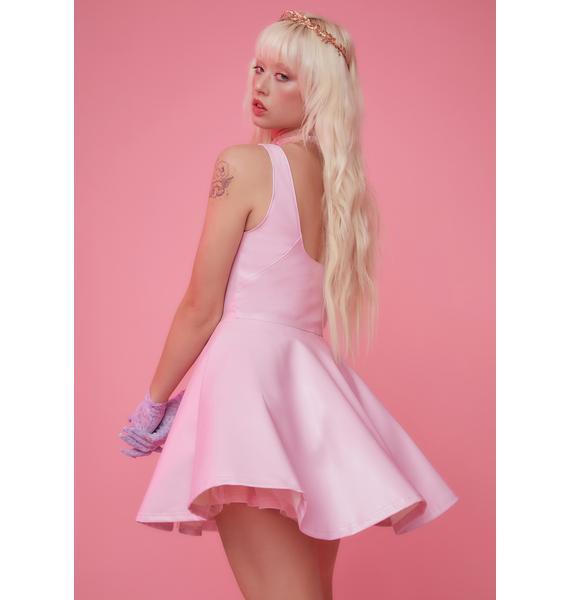 Sugar Thrillz Aurora Daze Vegan Leather Skater Dress