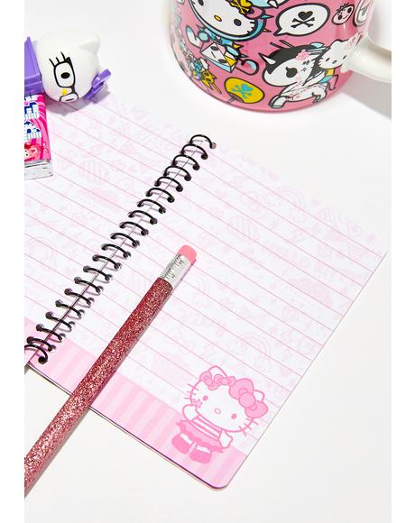 Hello Kitty Tokidoki Mini Spiral Notebook