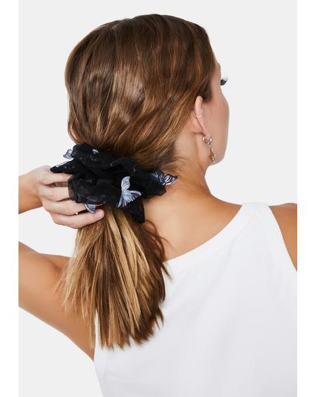 Dark Quick Fix Hair Scrunchie