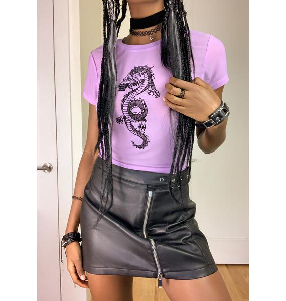dELiA*s by Dolls Kill Making Moves Mesh Tee