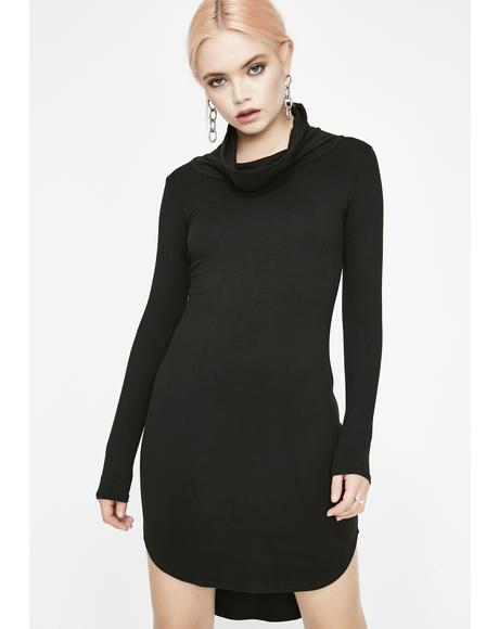 Midnight Fury Turtleneck Dress