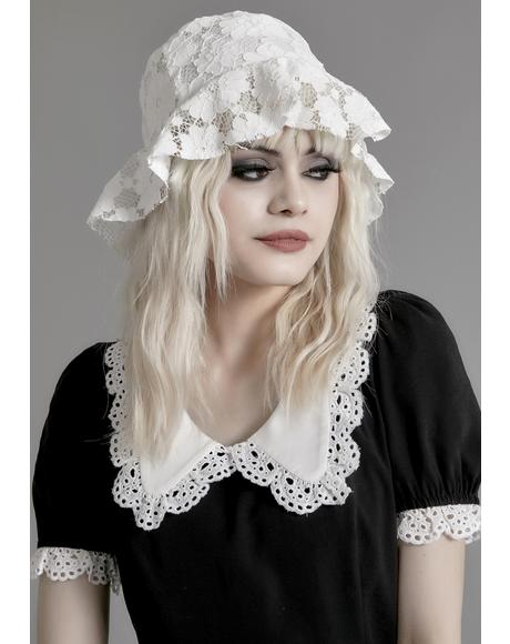 Pure Nocturne Lace Bucket Hat