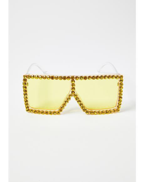 Through Yellow Colored Sunglasses