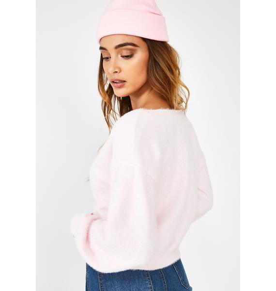 Glamorous Bubblegum Bliss Crop Sweater