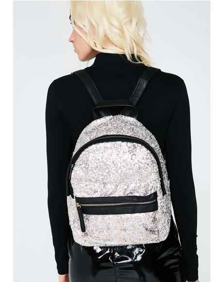 Light In The Dark Sequin Backpack