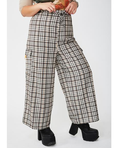 Plus Traditional Check Drawcord Trousers