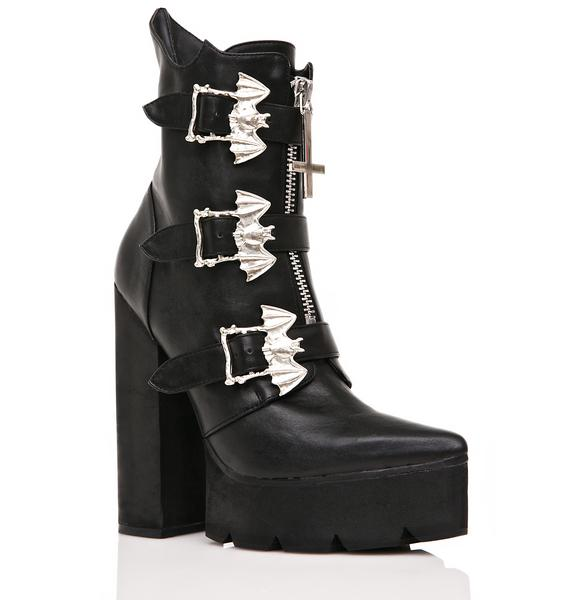 Current Mood Hellbat Platform Boots