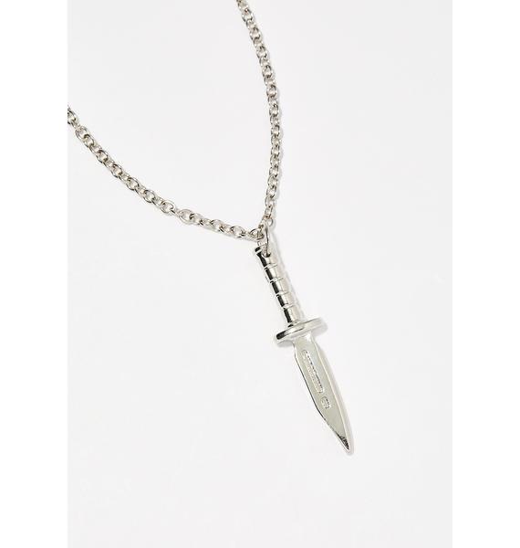 Pierce My Soul Knife Necklace