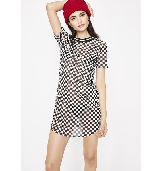 Radical Ride Checkered Dress