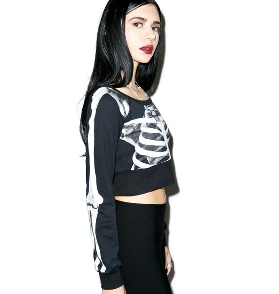 Killstar Skeletor Crop Crew
