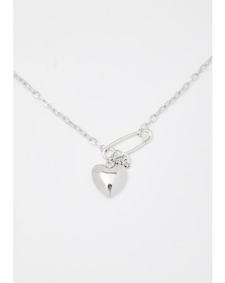 Protect Your Heart Chain Necklace