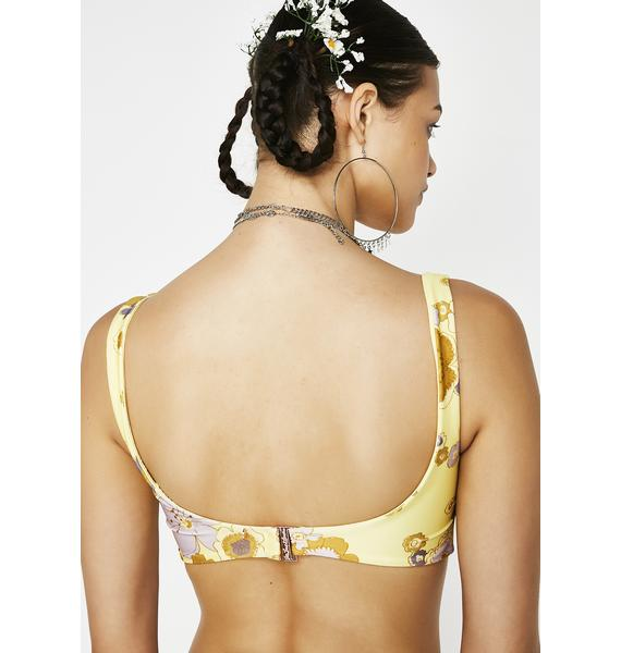 For Love & Lemons Lillian Knot Bikini Top