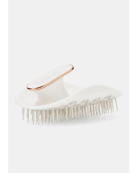 White & Rose Gold Manta Hair Brush