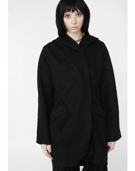 Dark Phantom Oversize Cardigan