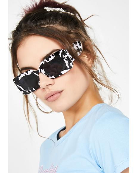 Cow Print Rhubic Sunglasses