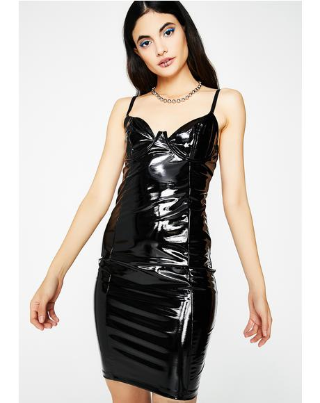 Midnight Main Chick Vinyl Dress