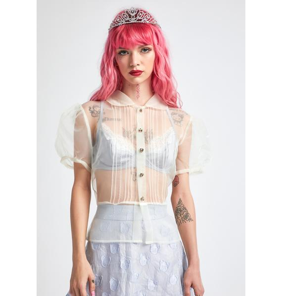 dELiA*s by Dolls Kill The Real Me Sheer Top
