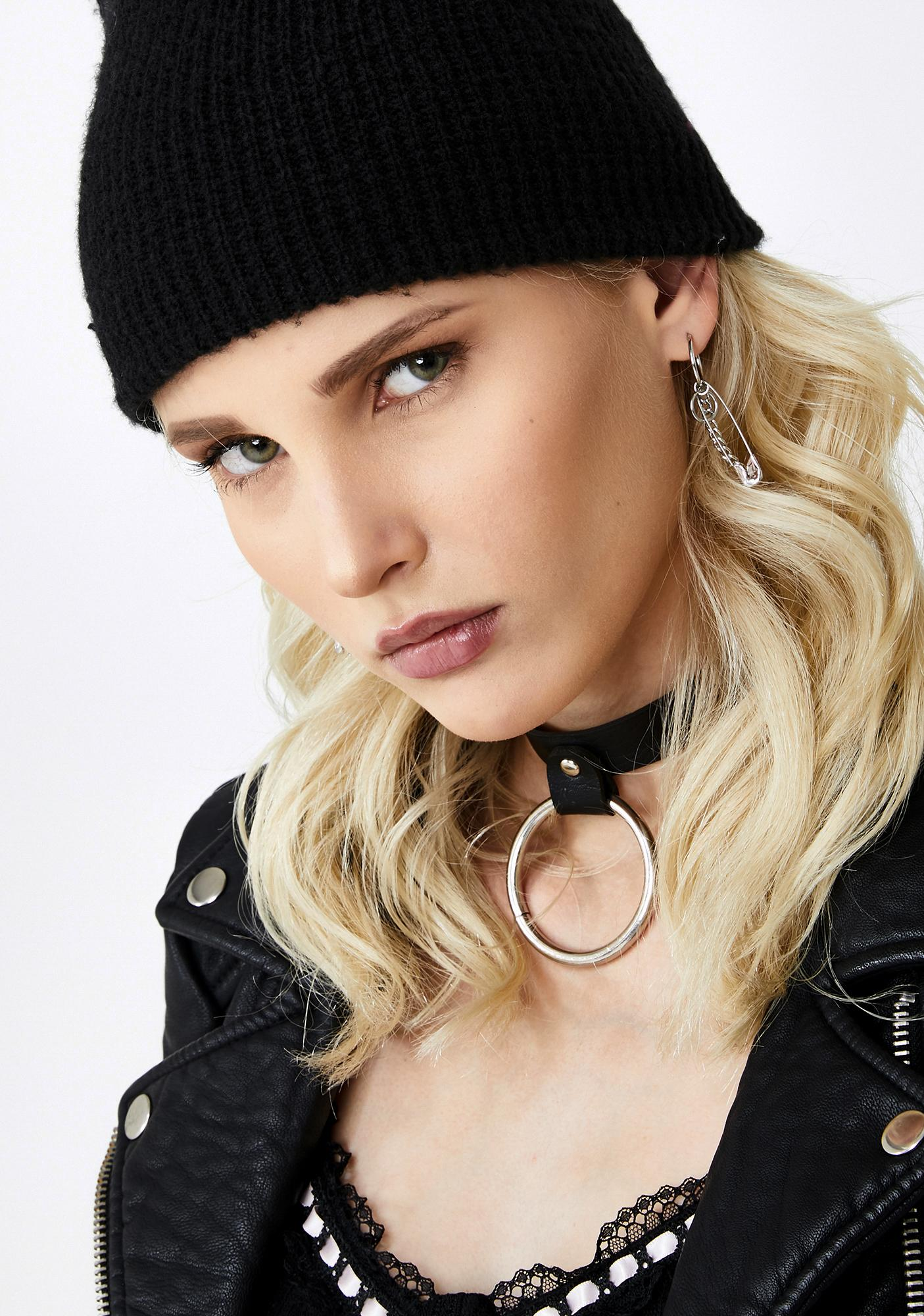 Tough Chick Safety Pin Earrings
