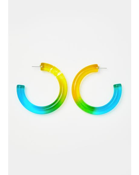Dearly Element Hoop Earrings