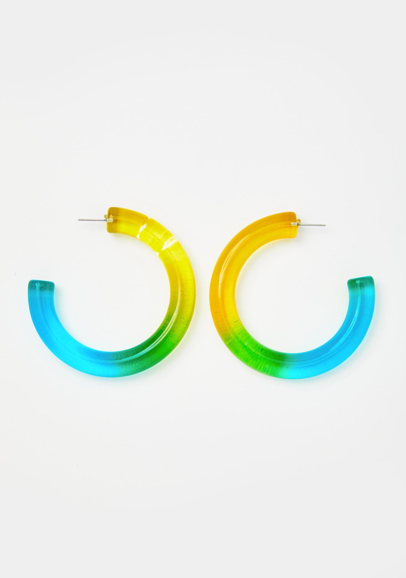 Dearly Element Hoop Earrings