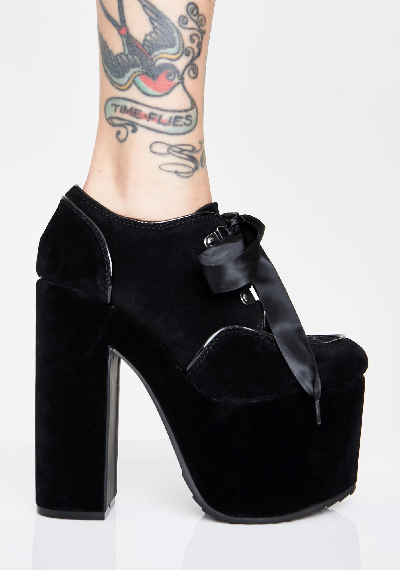 Killstar Just Buried Platform Heels