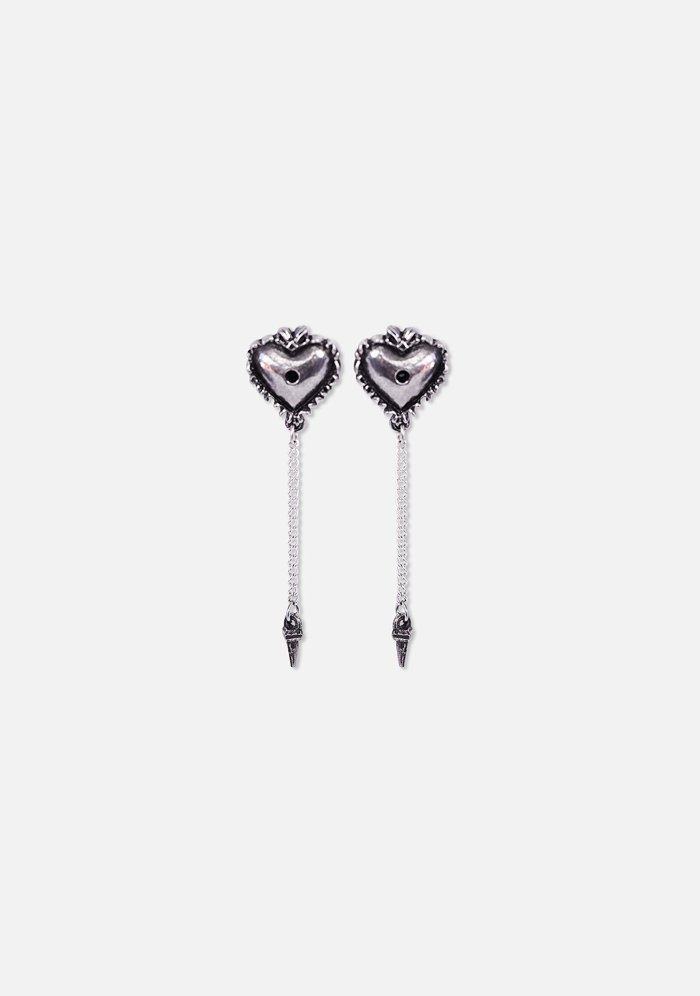 Alchemy England Witches Heart Drop Earrings