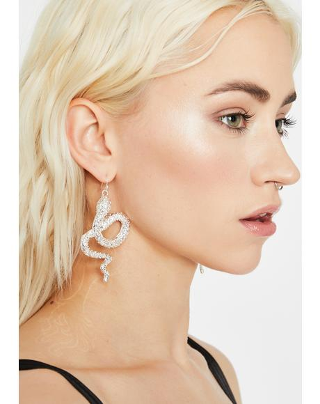 Glam Fantasy Rhinestone Earrings