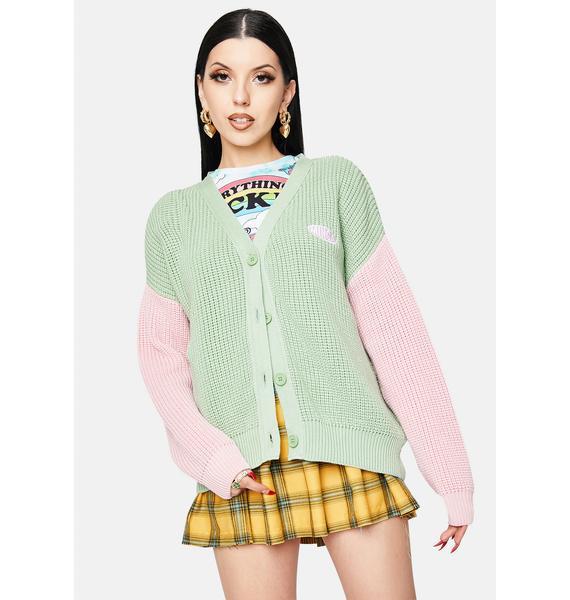 Minga Dreamy Contrast Knitted Cardigan