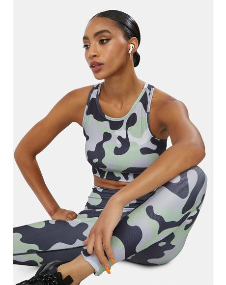 Dove Reporting 4 Duty Camo Sports Bra