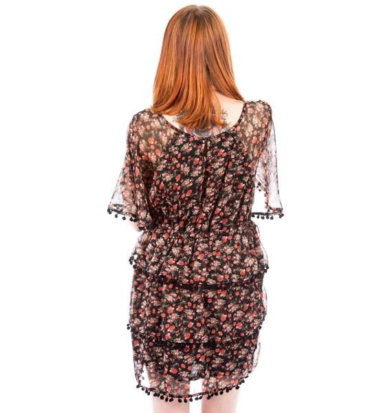 Mini Ruffle Pompom Dress