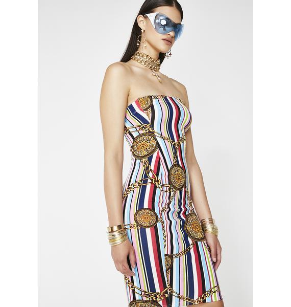 Chains For Ur Love Midi Dress