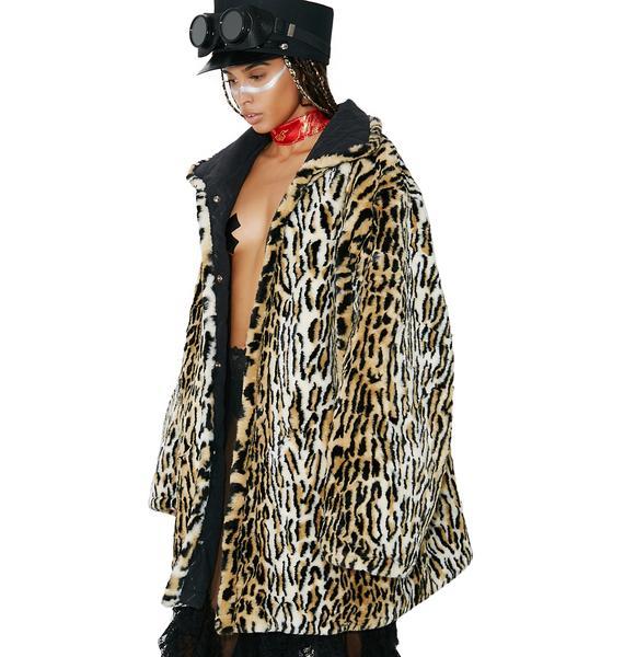 Vintage Leopard Fur Coat