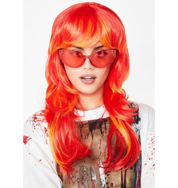 World On Fire Long Wig