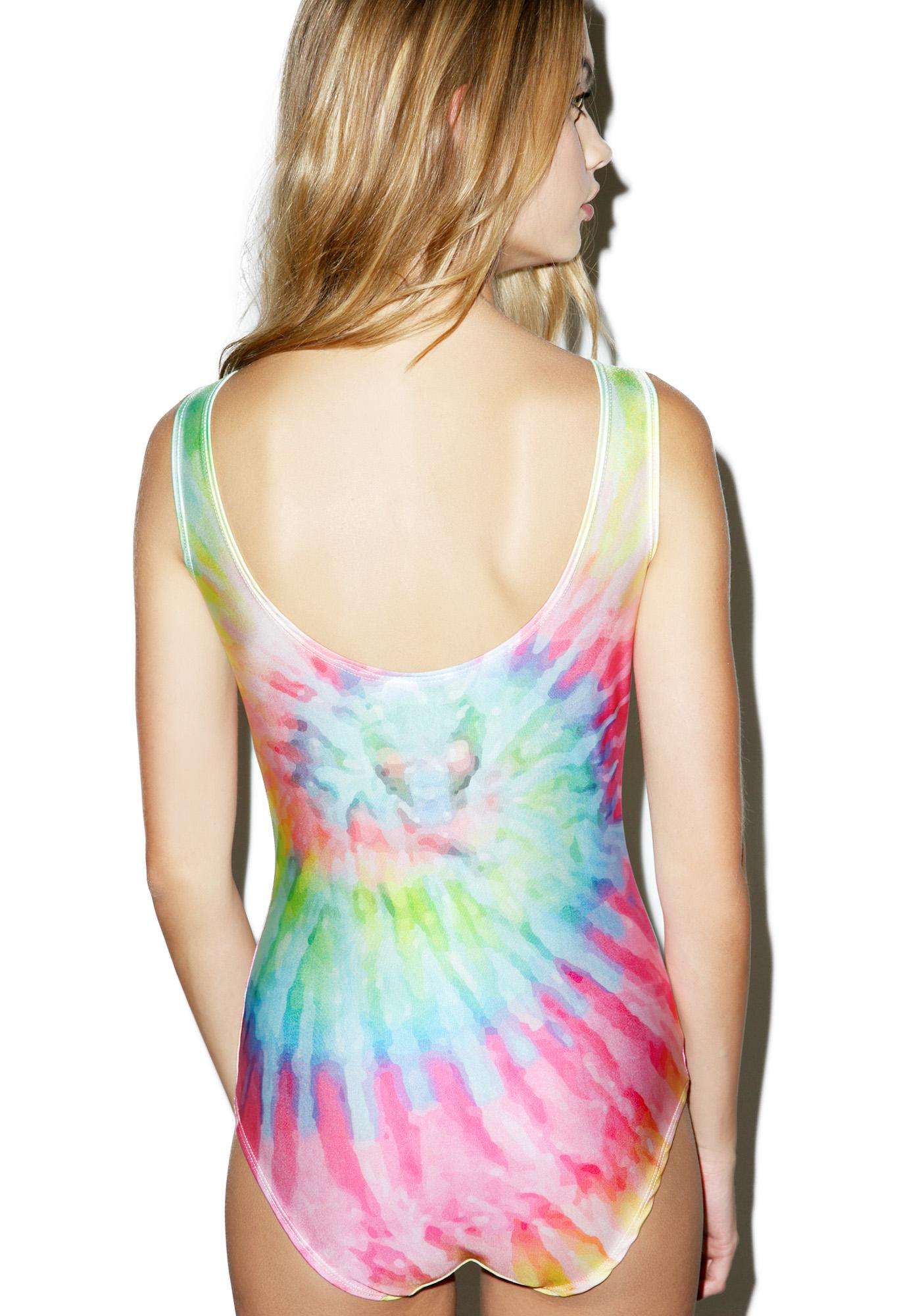 Minga Twirl It Tie Dye Bodysuit