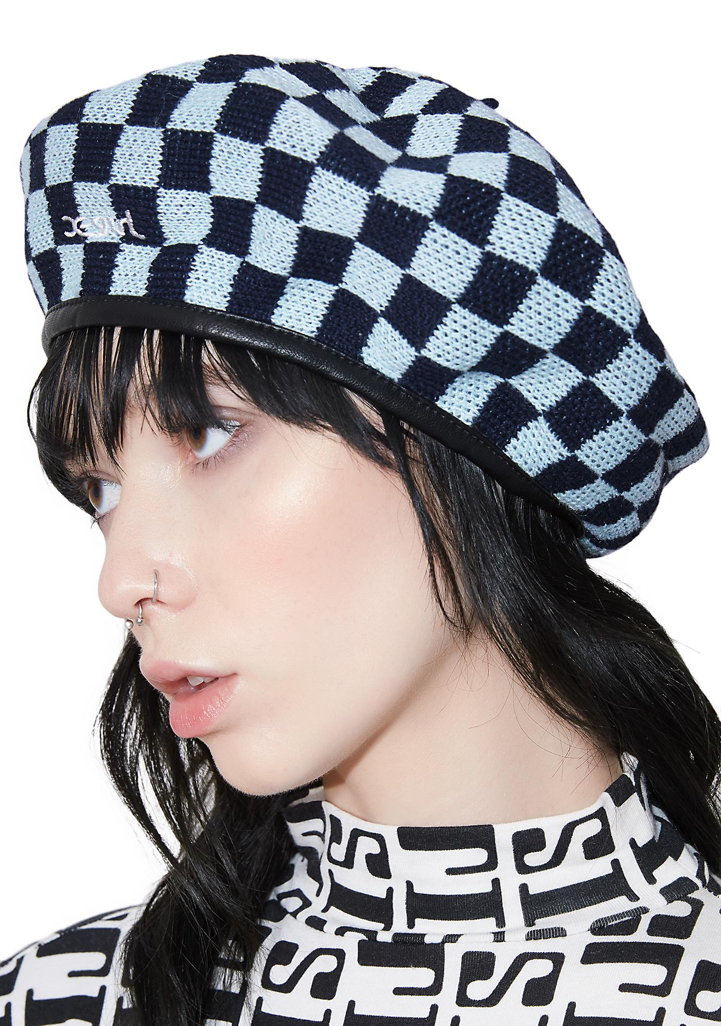 x-Girl Checkered Beret