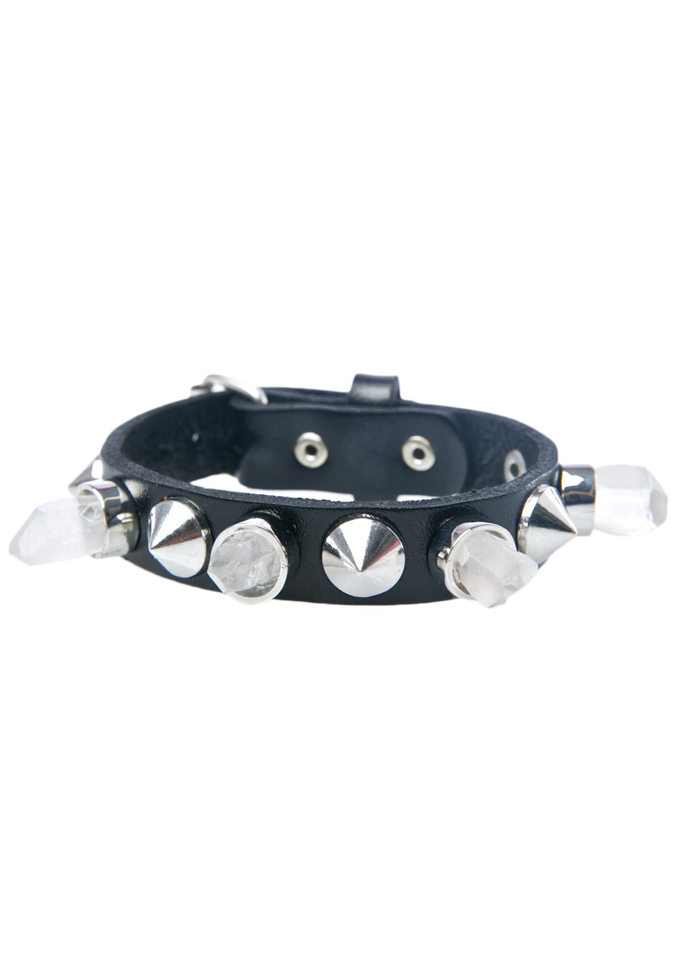 Killstar Crystal Leather Cuff
