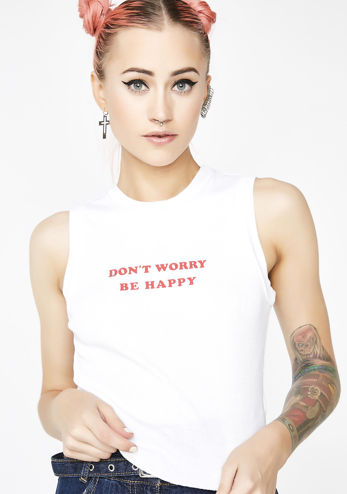 Wildfox Couture Be Happy Keaton Tank