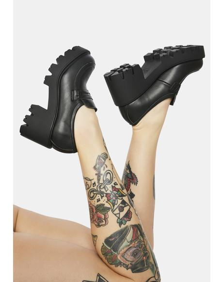Chanka Vegan Leather Heeled Loafers